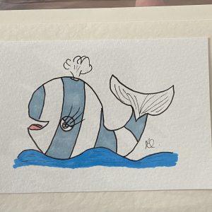 Art Card – Blue Whale (original artwork)