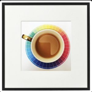Framed Photography – Colourful Saucer