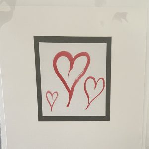 Art Card – Valentine's Card – 3 Hearts (original) (2)