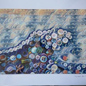 Mounted Prints – Button Waves (limited edition)