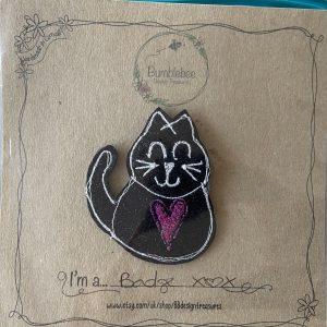 Textiles – Black Cat Badge