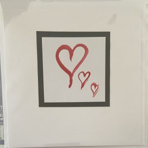 Art Card – Valentine's Card – 3 Hearts (original) (3)