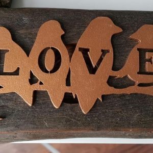 On Wood – Love Birds (gold)