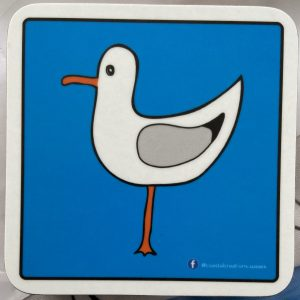Coasters – Seagull (blue -left)