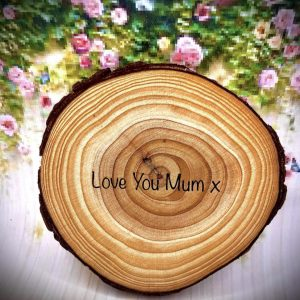 On Wood – Love You Mum Coaster