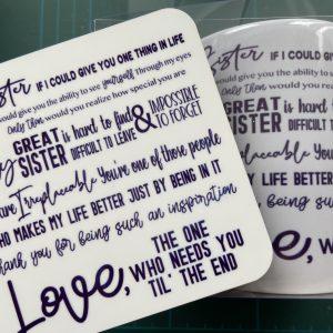 Mugs – Sister Love (Mug & Coaster Set)