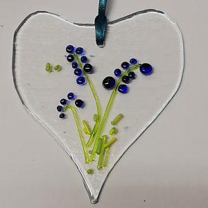 Glass Design – Flower #3 (blue)