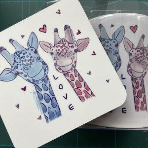 Mugs – Giraffes (Mug & Coaster Set)