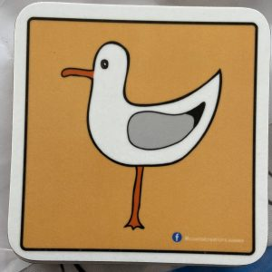 Coasters – Seagull (yellow-left)