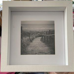 Framed Photography – West Beach (bnw)