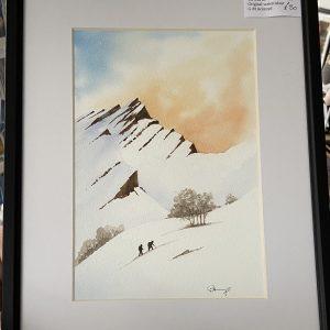 Original Paintings – Snow Climbing (watercolours)