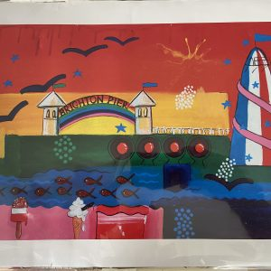 Print – Brighton Helter Skelter Seaside Postcard