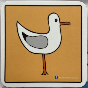 Coasters – Seagull (yellow-right)