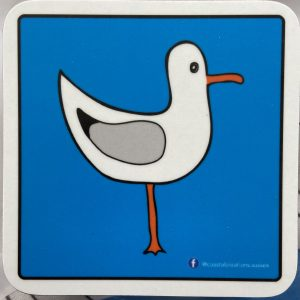 Coasters – Seagull (blue -right)