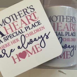 Mugs – Mother's Heart  (Mug & Coast Set)