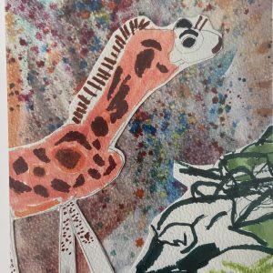 Art Card – Space Stranger – Winner of January Blues – Children's  Category