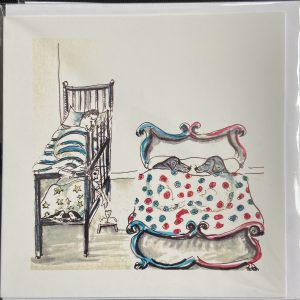 Art Card – Dogs In Bed