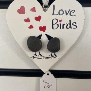 Craft – Wooden Hearts – Love Birds