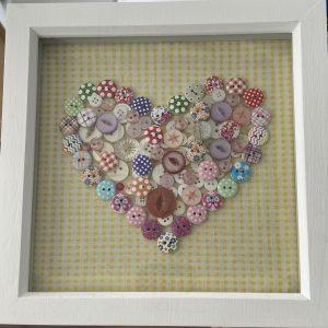 Craft – Button Heart
