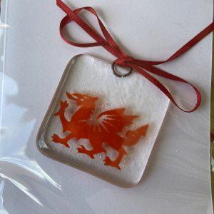 Glass Design – Dragon (red)