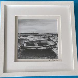 Framed Photography – Bosham Boat (bnw)