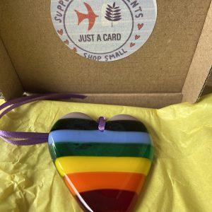 Glass Design – Rainbow Heart (lilac top)