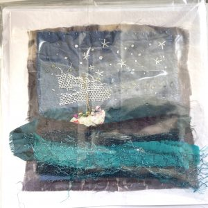 Art Card – Seascape (original textile)