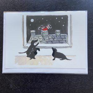 Art Card – Santa Dogs (Xmas Range)